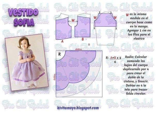 Vestido Princesa Sofia Com Molde Para Imprimir Como Fazer