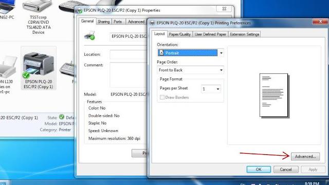 epson plq 30 passbook printer installation
