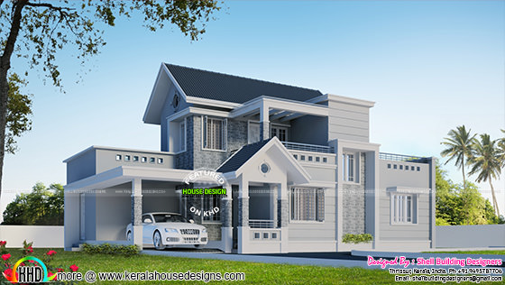 3 bedroom modern house in 2075 sq-ft