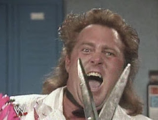 WWF / WWE: Wrestlemania 6 - Brutus Beefcake gets crazy about his upcoming match against Mr. Perfect