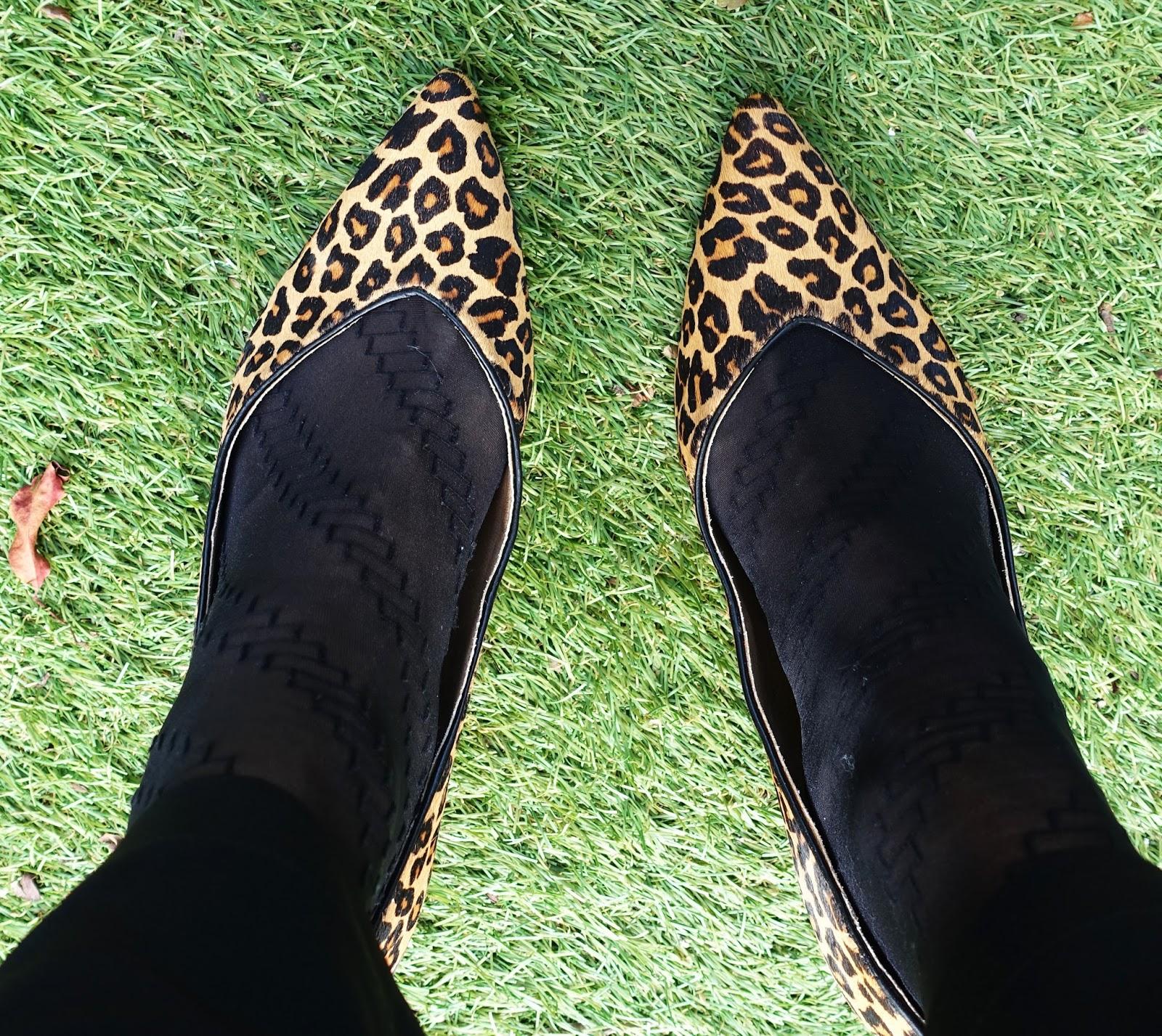 Image showing Josie kitten heel shoes in tan leopard by Vionic