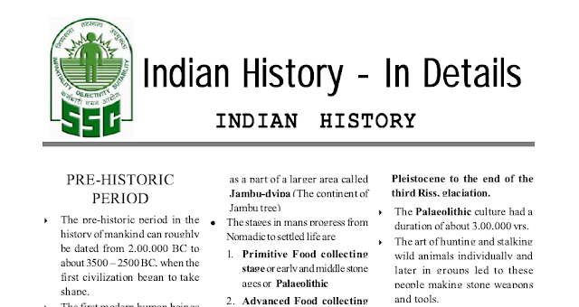 Indian History Complete Notes PDF Download SSC & Competitive Exams