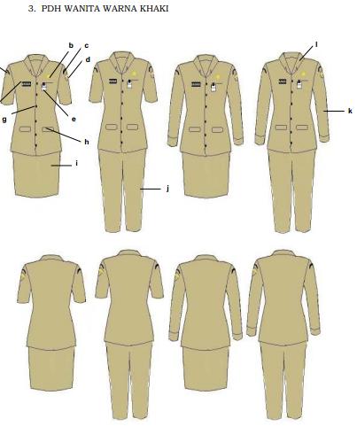 contoh pakaian dinas sesuai permendagri nomor 6 tahun 2017