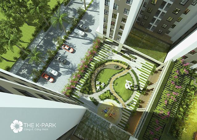 Sân vườn tại chung cư The K - Park