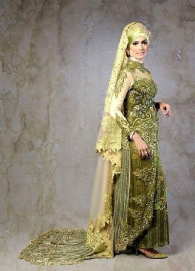 model baju kebaya pengantin muslim 2017