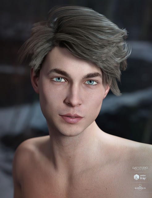 Lyall Hair for Genesis 3 - 8 Male