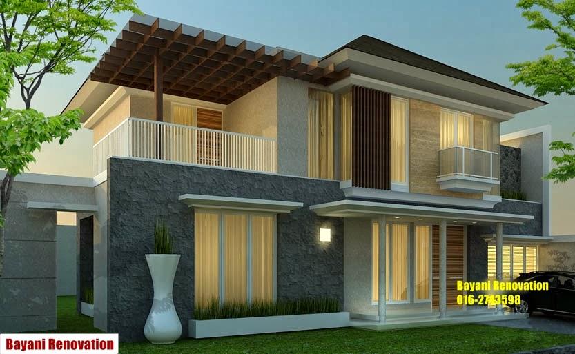 Desain Banglo Tropis Rumah 2 Lantai