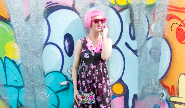 Chesire Cat dress, summer look, coupette lagerfeld