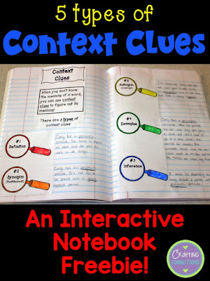 Teach your students how to recognize different types of context clues with this interactive notebook activity! It's FREE!