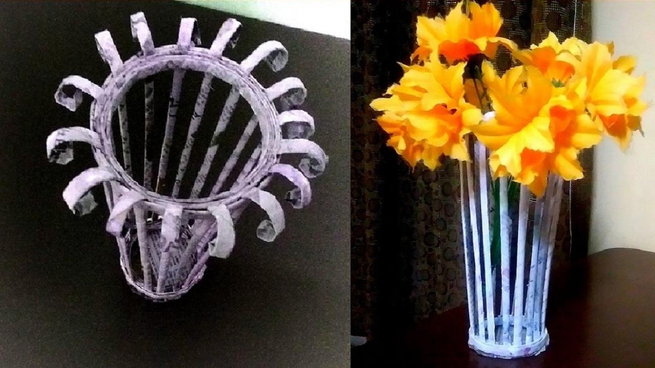 Cara Menciptakan Vas Bunga Dari Koran Bekas Blogcampduan