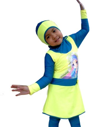 Baju Renang Anak Muslim perempuan yang modis