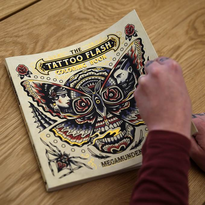megamundens the tattoo flash coloring book - The Tattoo Coloring Book