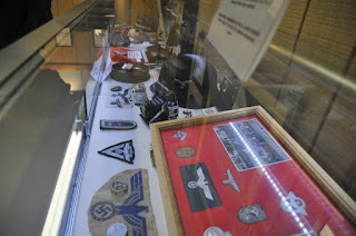 museum display of captured German Memorabilia