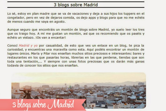 3 blogs sobre Madrid