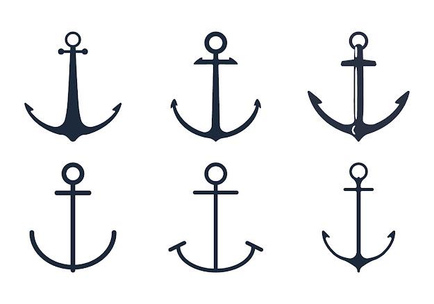 Nautical Vector Symbols Pack Anchor Icon Set