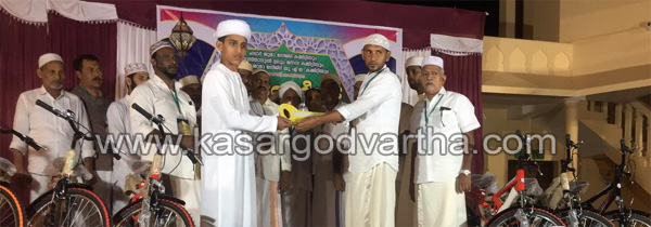 Cycle, News, Kerala, Kalanad, Haddad Juma Masjid, Busthanul Uloom Madrasa, Subh Namaz, Cycles distributed