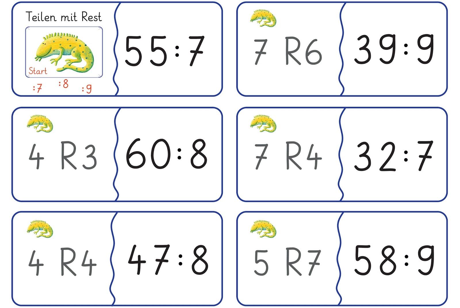 Lernstübchen: Dominos zum Teilen mit Rest (3)