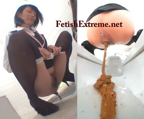 [EE-134] 1DAYノーカット社内OLトイレ Diarrhea, peeing and pooping in public toilet