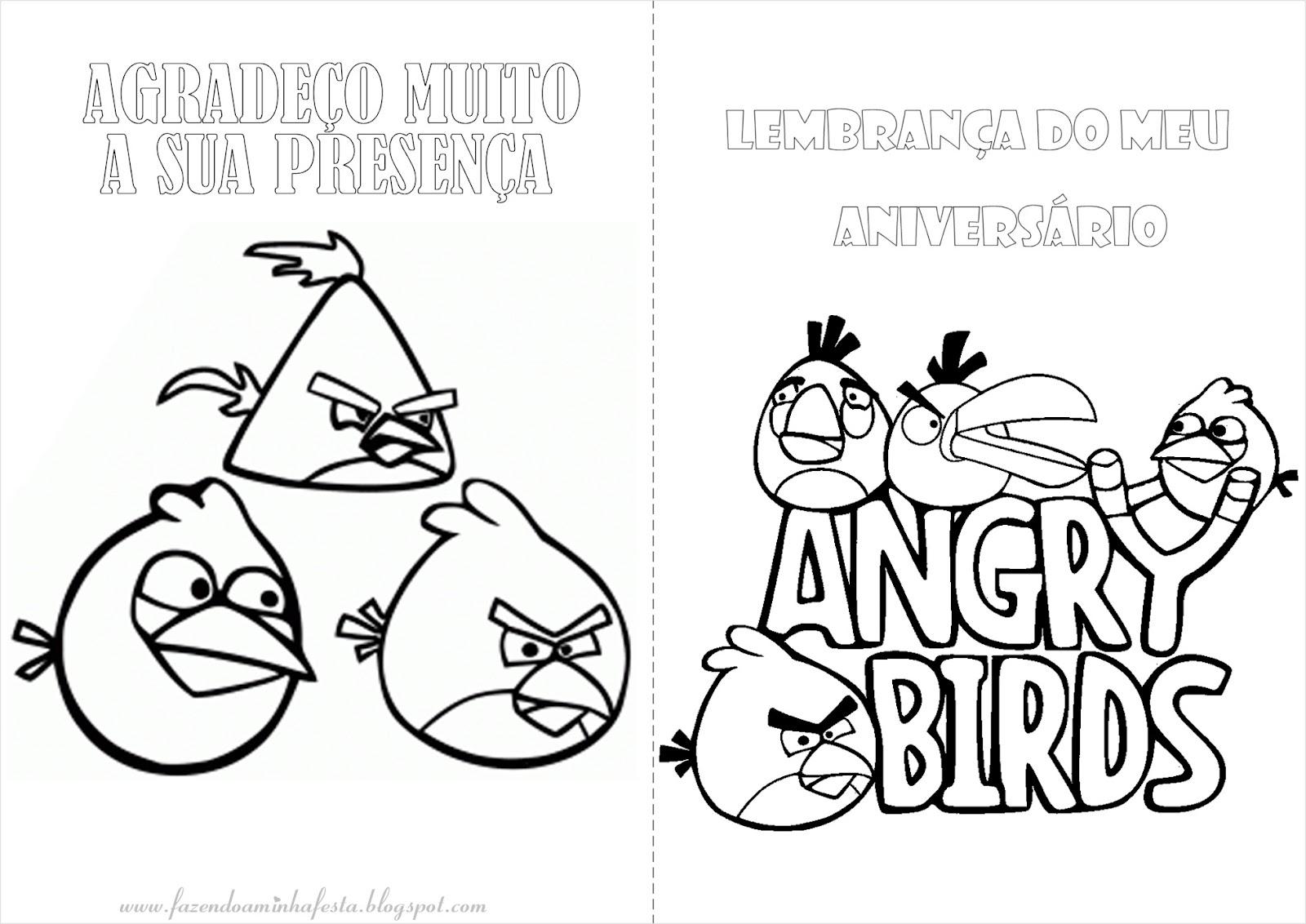 Desenhos Para Pintar Angry Birds: Fazendo A Nossa Festa