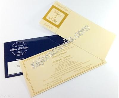 undangan pernikahan tiket pesawat