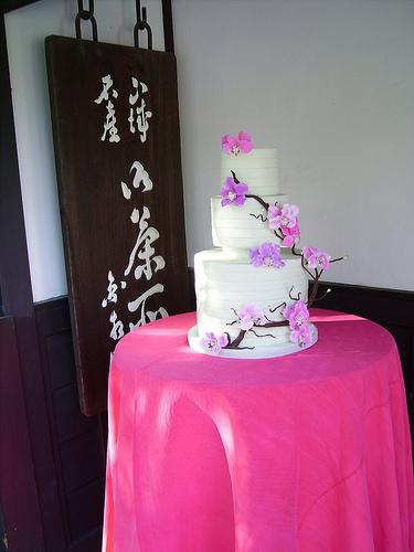 Asian cake style wedding