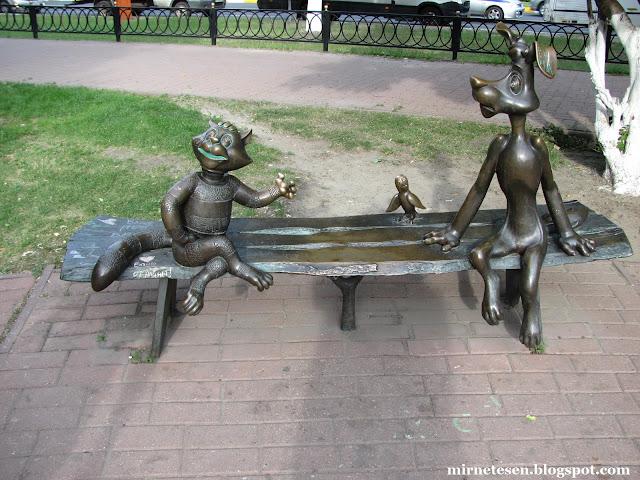 Герои советских мультфильмов в Раменском, автор Олег Ершов