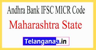 Andhra Bank IFSC MICR Code Maharashtra State