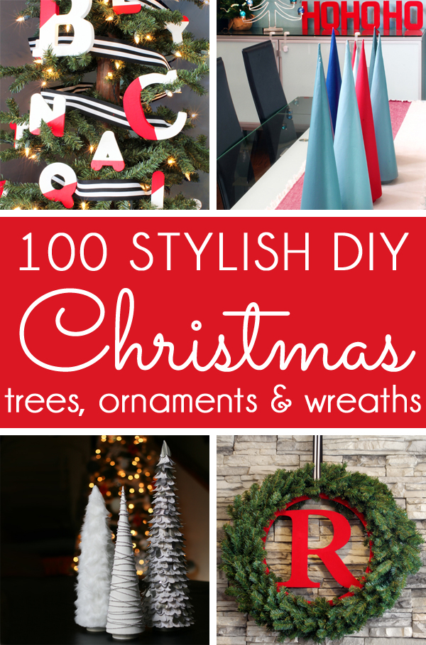 DIY Christmas trees ornaments wreaths
