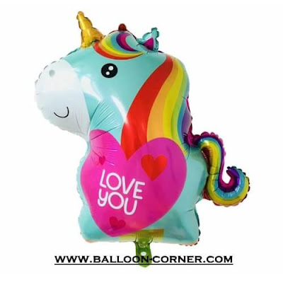 Balon Foil LOVE YOU Unicorn