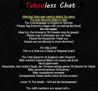 tampilan halaman rules dan help situs tabooless