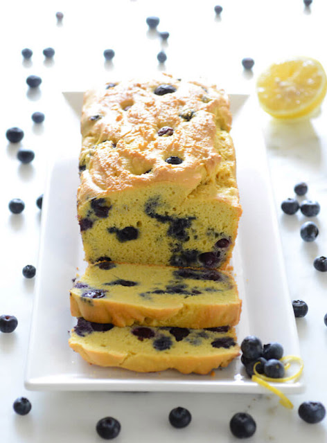 Delicious Keto Blueberry Lemon Bread