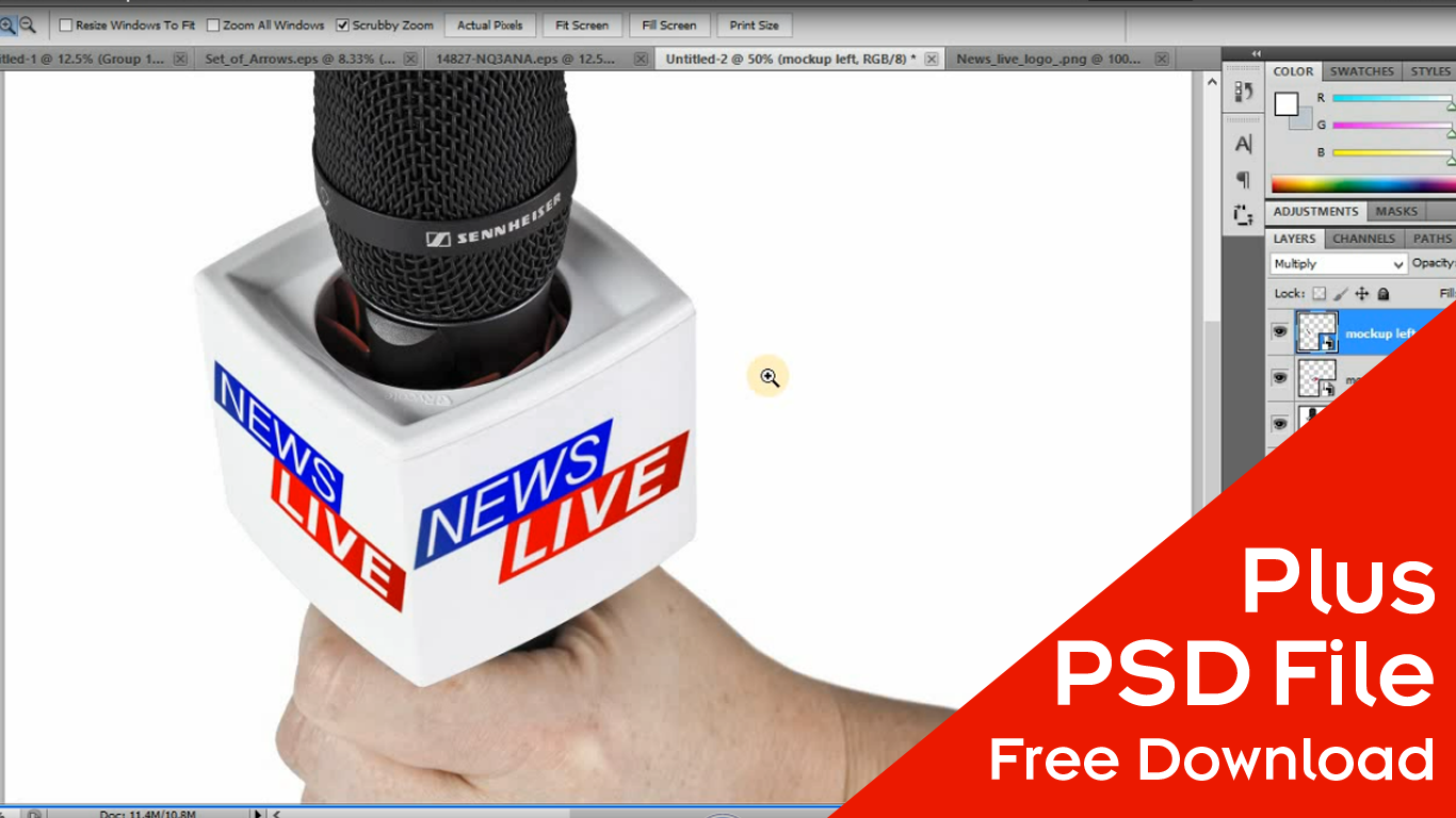 Are You Looking For Microphone Mockup We Have A Free Download PSD File Learn How Make Design In Photoshop