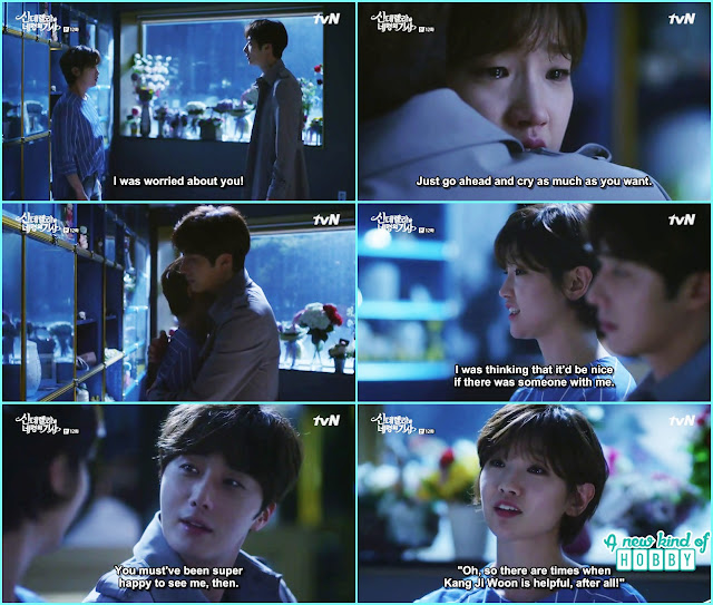 ji won find ha won at her mother cemetery she was crying and afraid - Cinderella and Four Knights - Episode 12