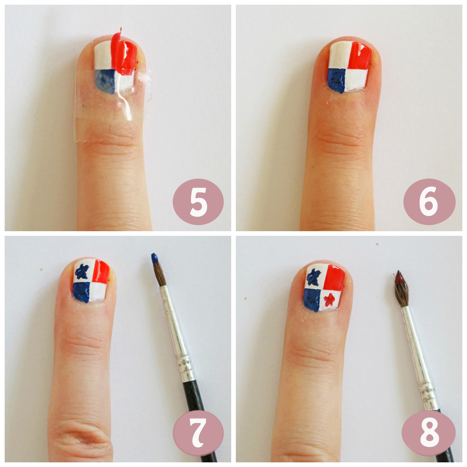 Flag nails tutorial