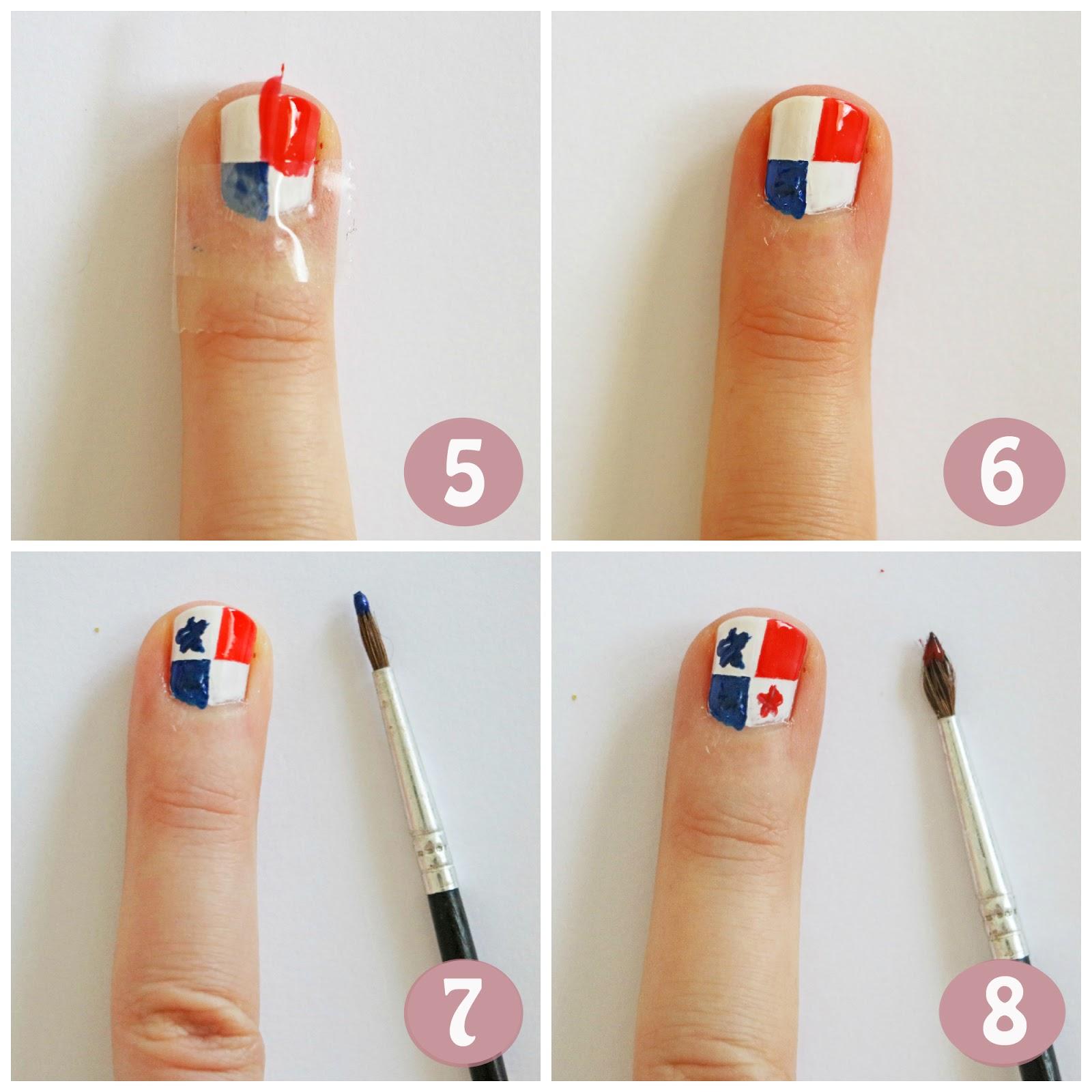 Flag nails tutorial