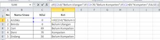 Tutorial dan Cara Penggnaan Rumus IF dalam Ms Excel