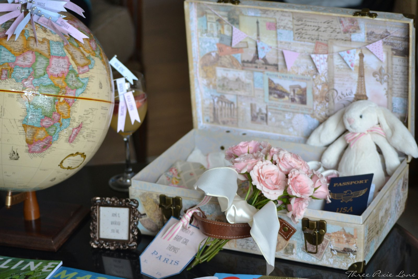 Travel Theme Ideas Three Pixie Lane A Travel Themed Baby Shower Oh Baby