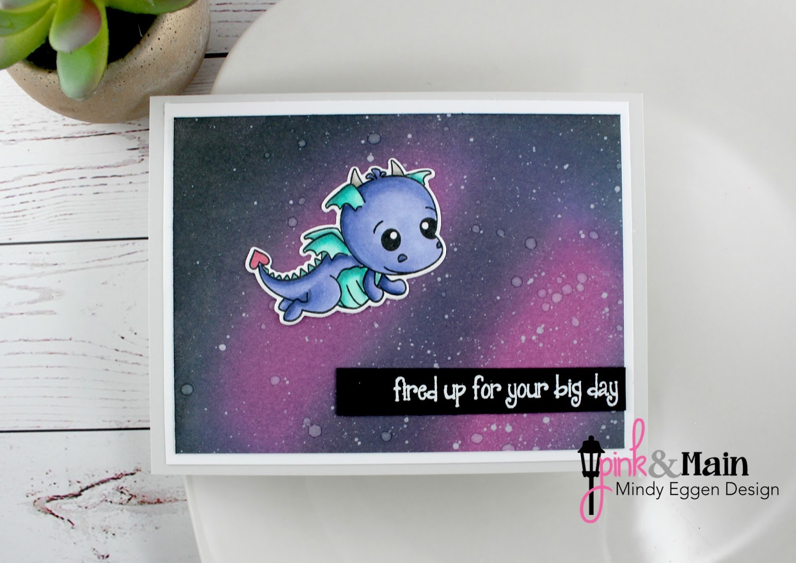 Fired up for your birthday pink main mindy eggen design i created my background by ink blending picked raspberry wilted violet blueprint sketch and black soot distress oxide ink onto bristol smooth cardstock malvernweather Image collections