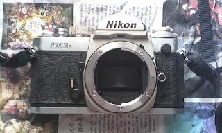 bagian depan nikon fm3a silver