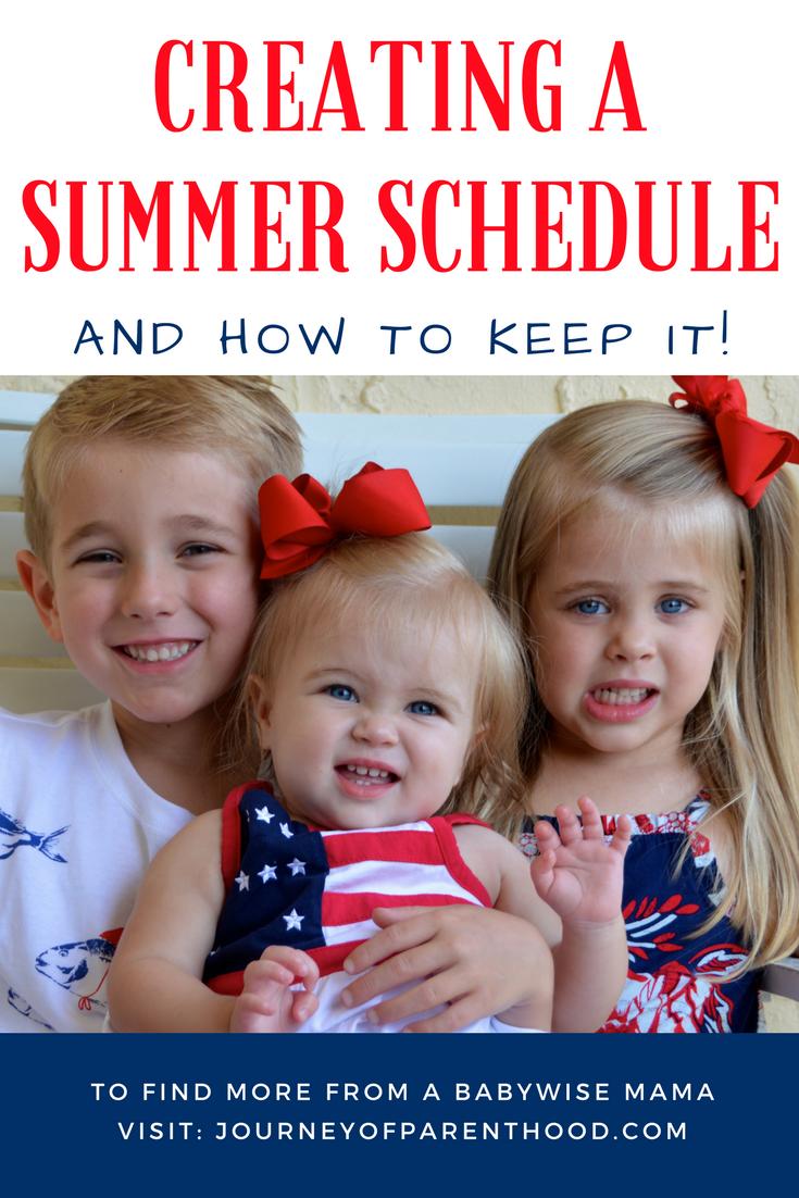 Summer Schedules
