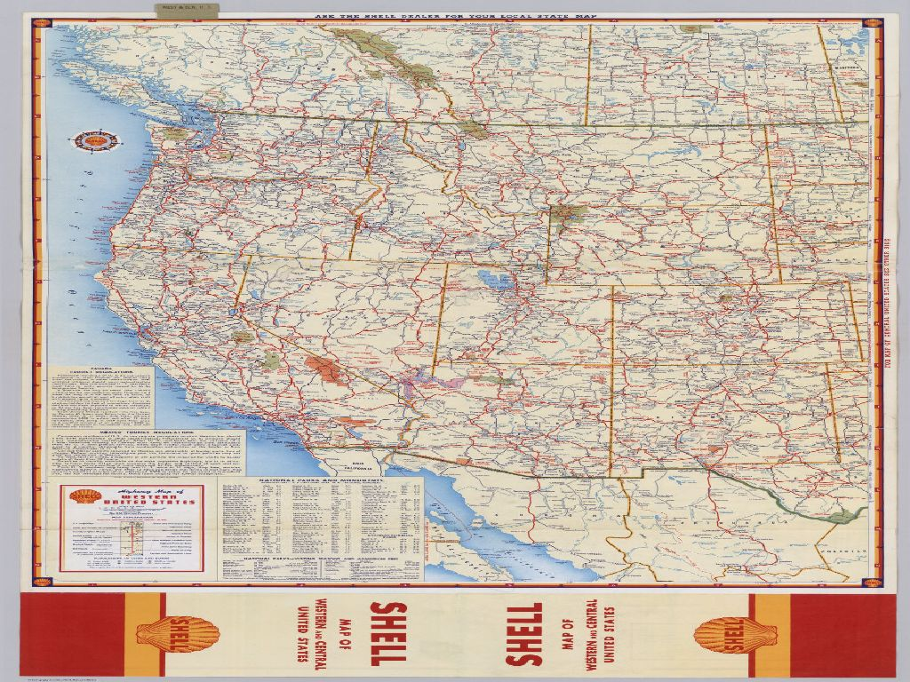 highway map of western united states