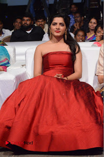 Actress Pavani Pictures in Red Long Dress at Jo Achyutananda Movie Audio Launch  0062.JPG