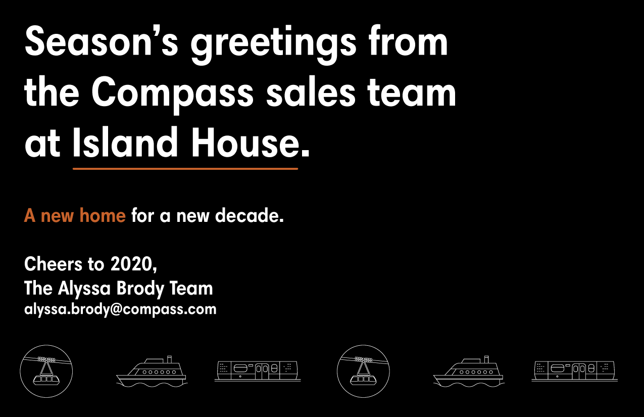 Season's Greetings From the Compass Sales Team At Island House,