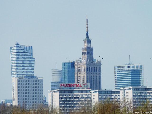 Panorama Warszawy widok na Pałac Kultury i Nauki