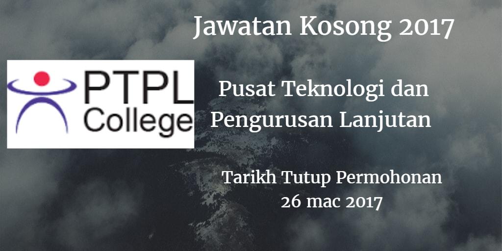 Jawatan Kosong PTPL 26 Mac 2017