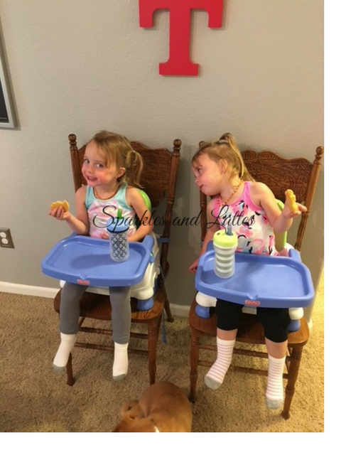 twins eating cookies