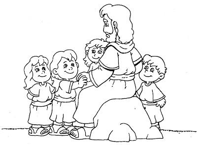Resultado de imagem para JESUS ABENÇOA AS CRIANÇAS PARA PINTAR