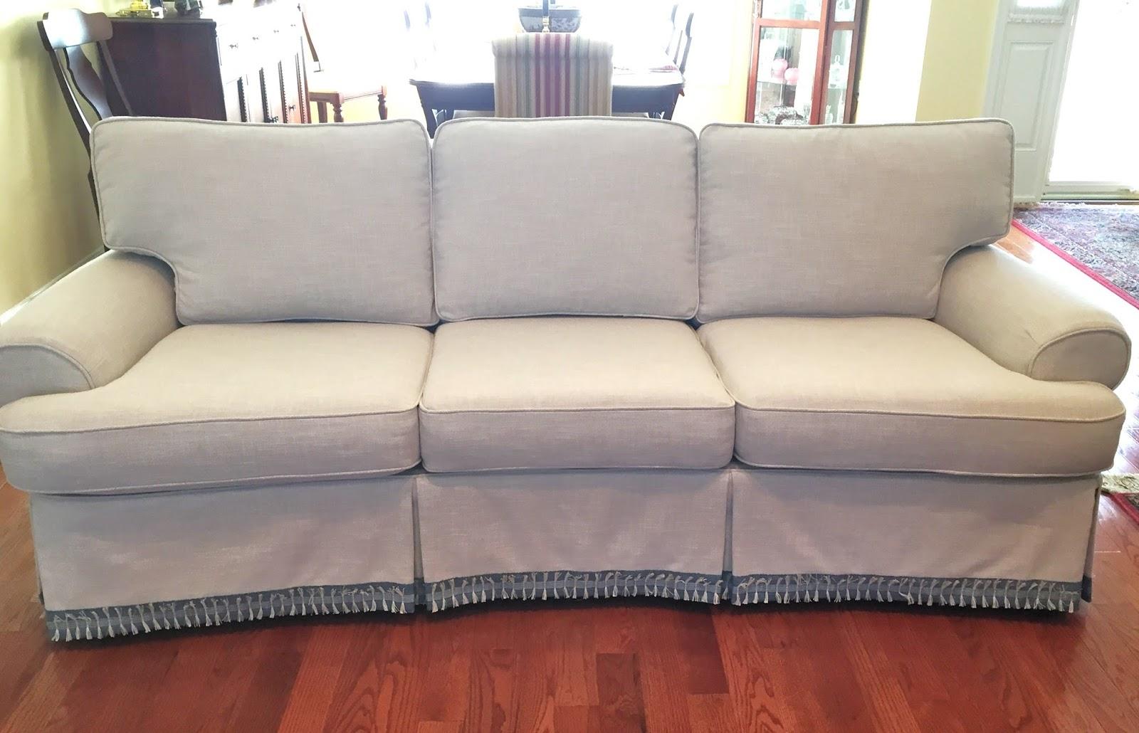 slipcover linen slipcovered xmas thanksgiving couch tutorial simplylinen slipcovers