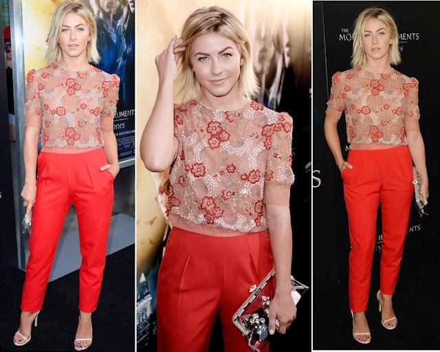 Julianne Hough in Jenny Packham (Fall 2013) – 'The Mortal Instruments: City of Bones' Los Angeles Premiere