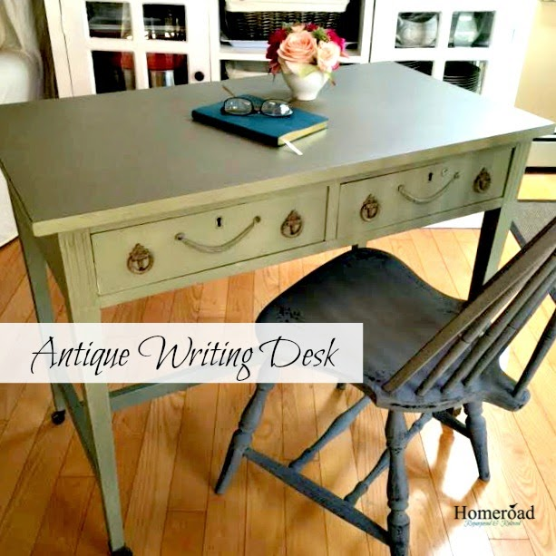 Antique writing desk painted with Annie Sloan Chalk Paint www.homeroad.net